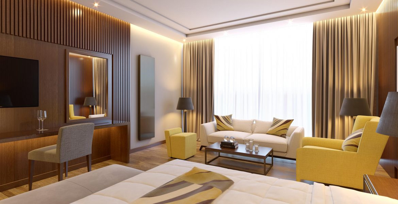 bronze hotel room